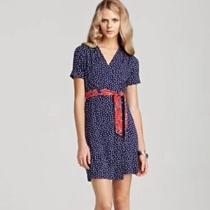 Lilly Pulitzer Adalie Blue Red & White Wrap Dress